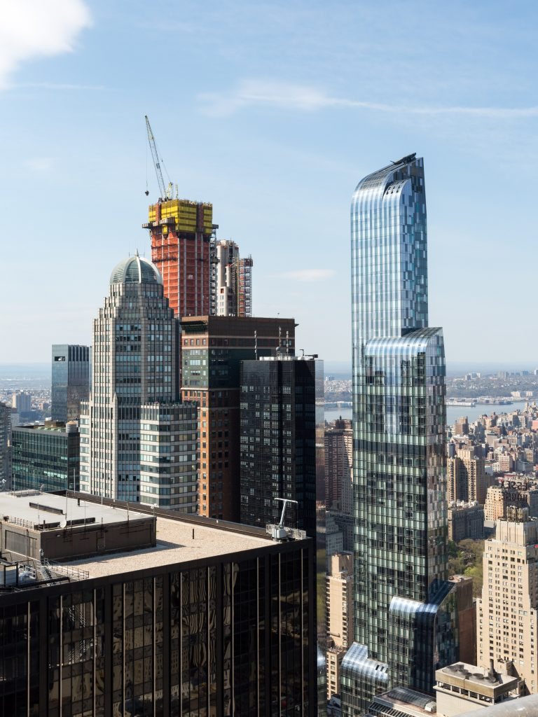 Central Park Tower, 220CPS, and One57 from 53W53, image by Andrew Campbell Nelson