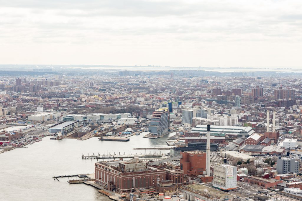 Dock 72 and Brooklyn Navy Yard from One Manhattan Square, image by Andrew Campbell Nelson