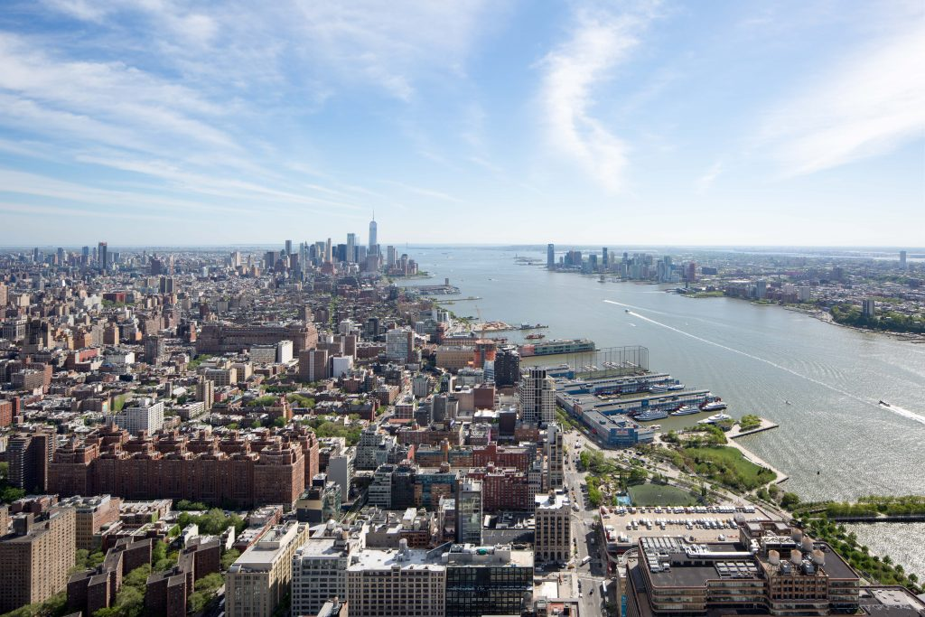 Downtown Manhattan and Jersey from 15 Hudson Yards, image by Andrew Campbell Nelson