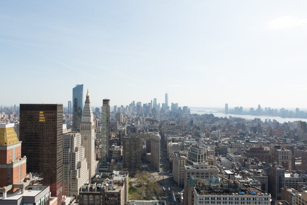 Downtown Manhattan from 277 Fifth Avenue, image by Andrew Campbell Nelson