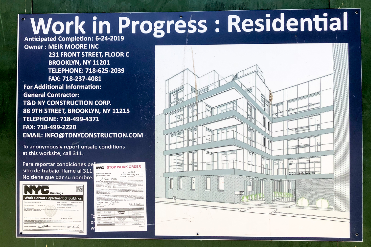 Elevation on site of 250 Water Street, image by an anonymous YIMBY reader