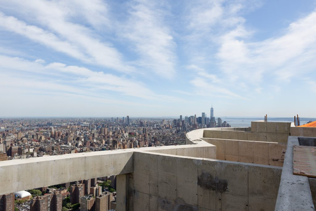 Image from the rooftop of 15 Hudson Yards, image by Andrew Campbell Nelson