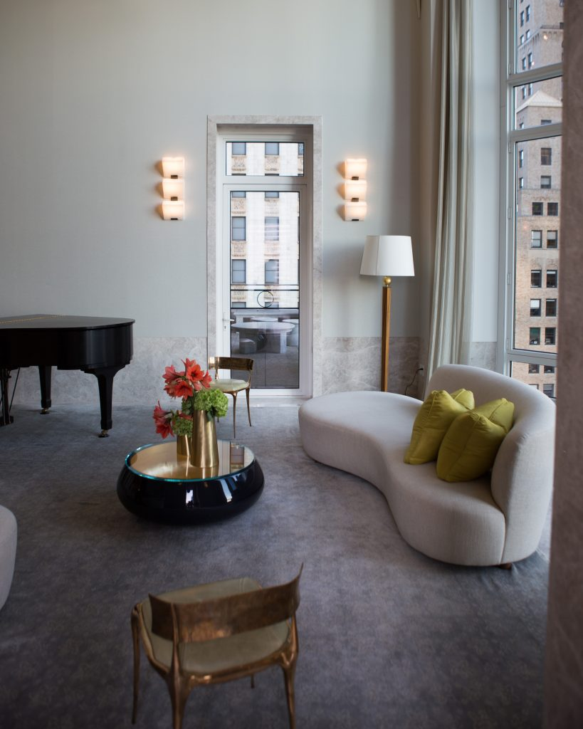 Interior of shared lounge space at 30 Park Place, image by Andrew Campbell Nelson