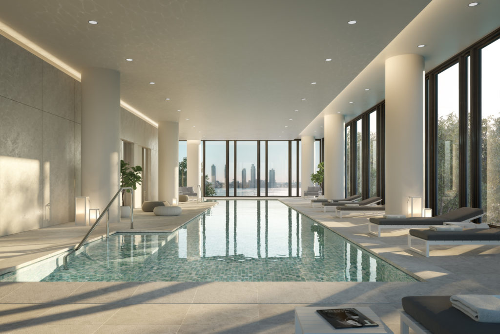 Interior pool for 685 First Avenue, design by Richard Meier & Partners Architects
