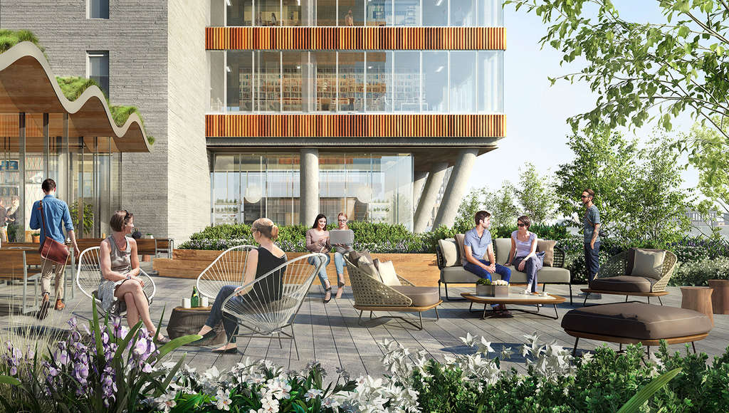 JACX fifth floor terrace, rendering courtesy Tishman Speyer