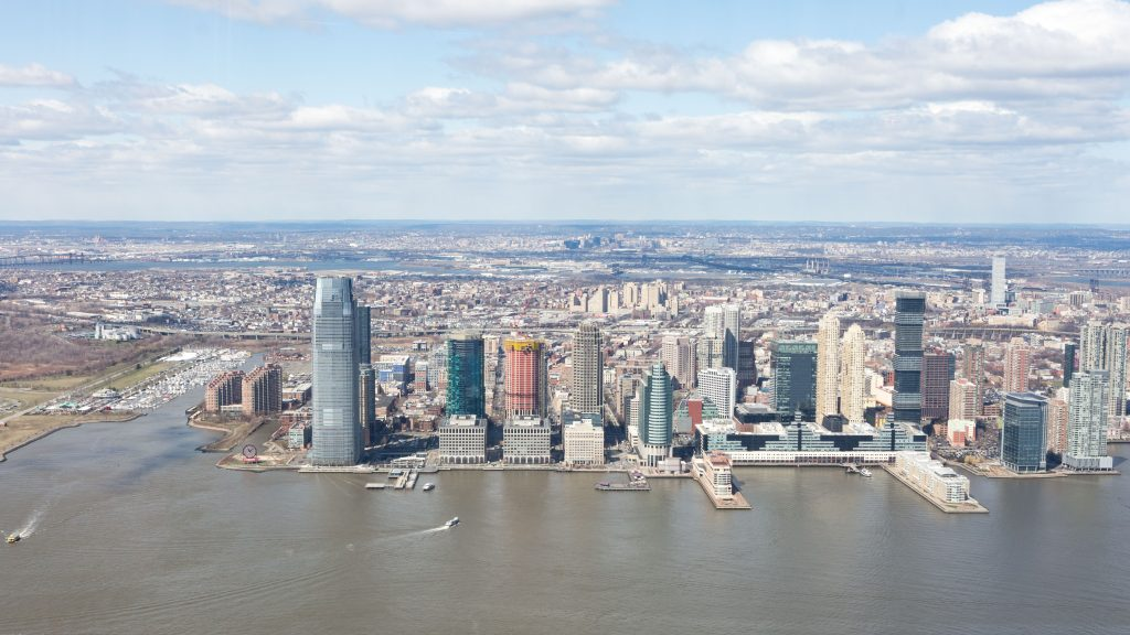 Jersey City from the 125 Greenwich Sales Gallery 1WTC, image by Andrew Campbell Nelson