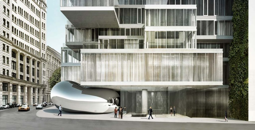 Lobby View, rendering by Anish Kapoor