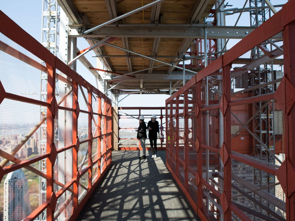 Looking north on the Catwalk toward the hoist and Central Park, image by Andrew Campbell Nelson