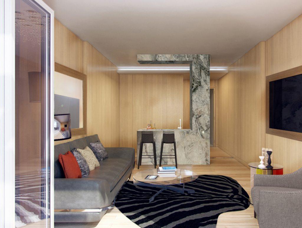 ML House living room, image by Gene Kaufman
