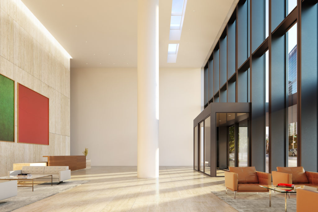Main Lobby at 685 First Avenue, design by Richard Meier & Partners Architects