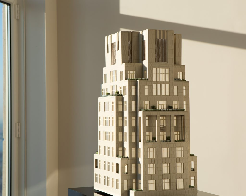 Model of the 30 Park Place crown, image by Andrew Campbell Nelson