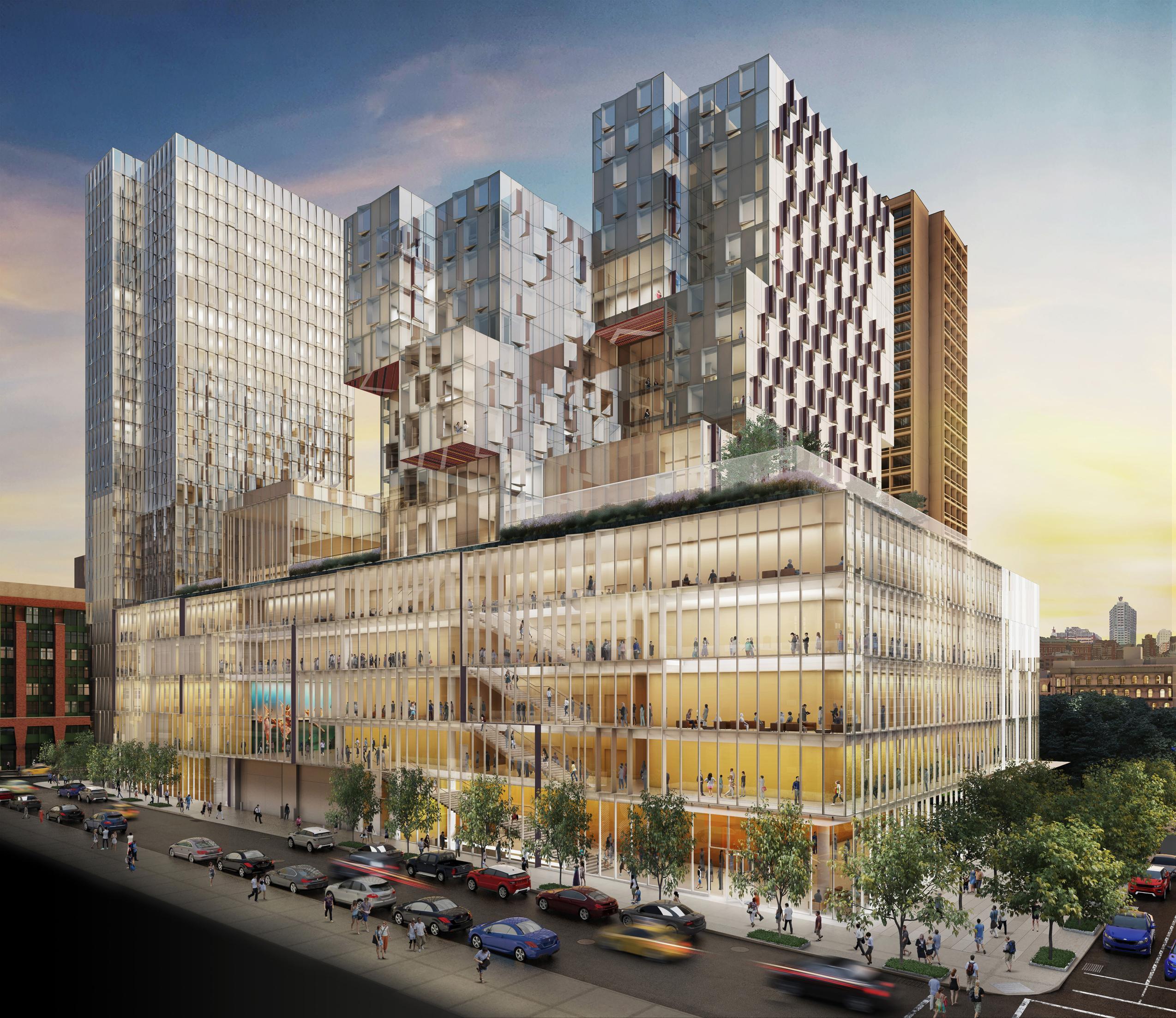 NYU Expansion at 181 Mercer, rendering via StudioAMD