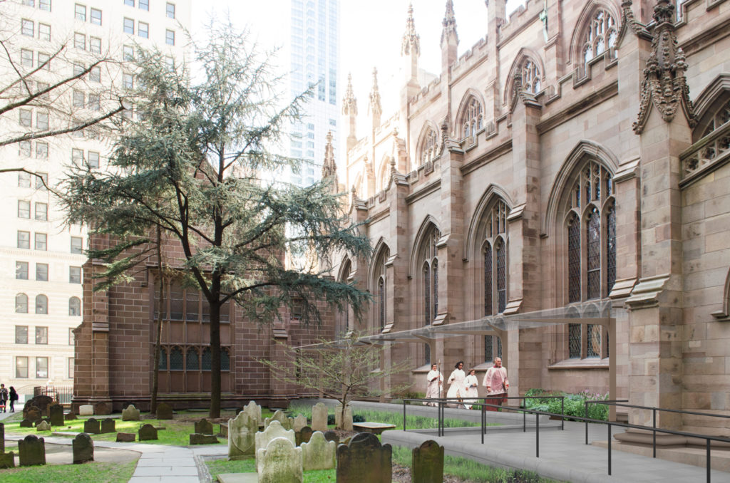 New Graveyard Canopy, rendering courtesy the Trinity Church Wall Street