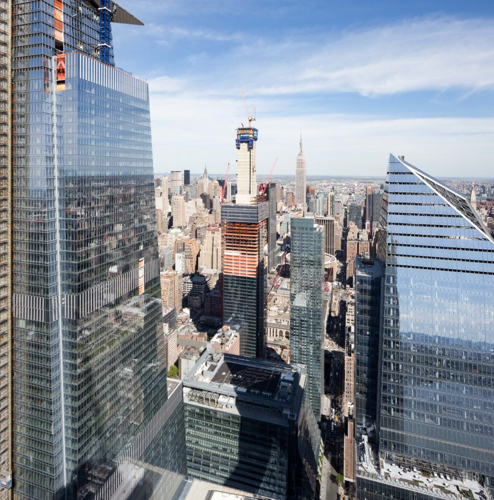 One Manhattan West from 15 Hudson Yards rooftop, image by Andrew Campbell Nelson