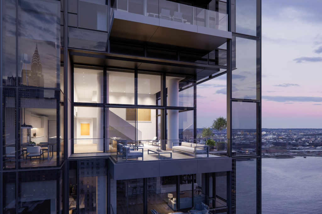 Private Terrace at 685 First Avenue, design by Richard Meier & Partners Architects