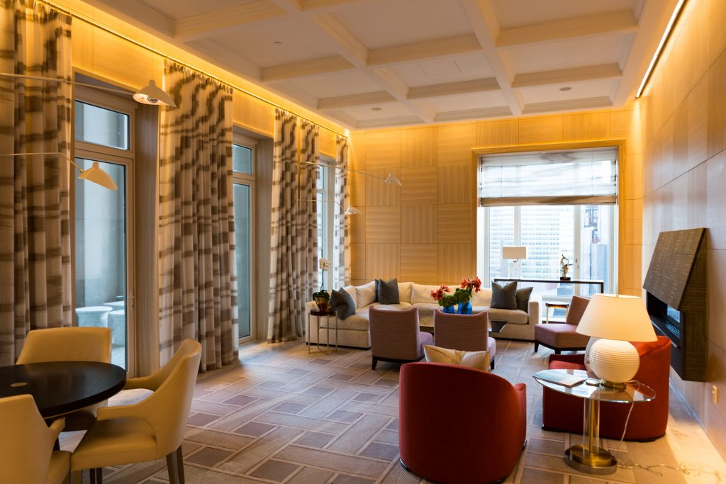 Shared lounge at 30 Park Place, image by Andrew Campbell Nelson