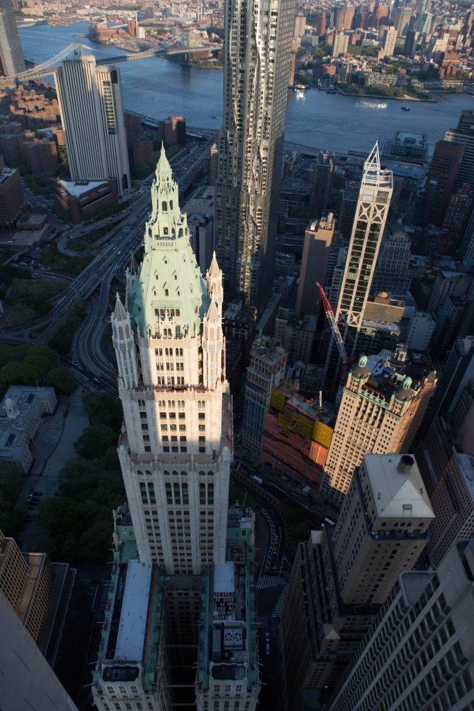 The Woolworth Building from 30 Park Place, image by Andrew Campbell Nelson