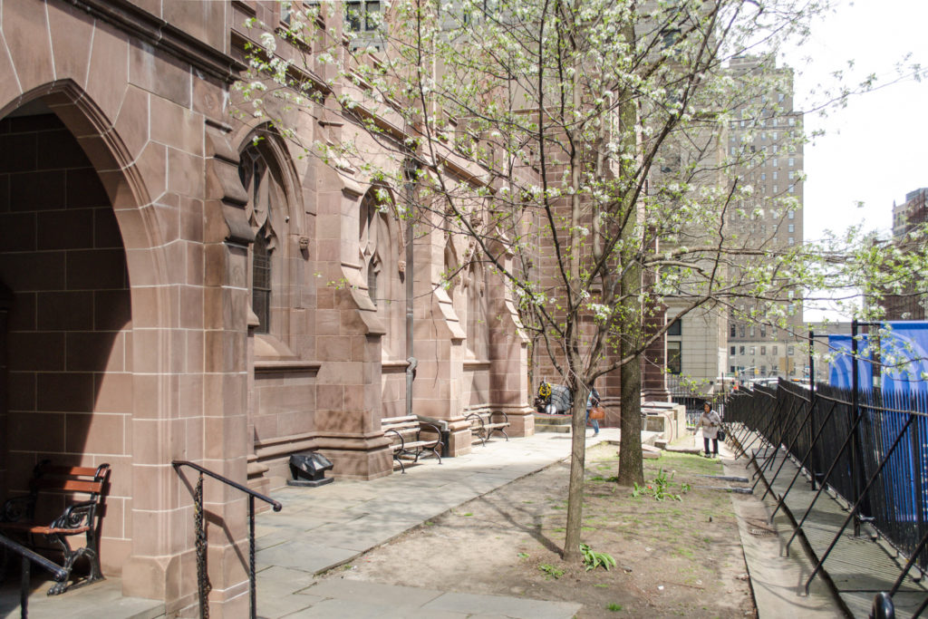 West Perspective's current condition, image courtesy the Trinity Church Wall Street