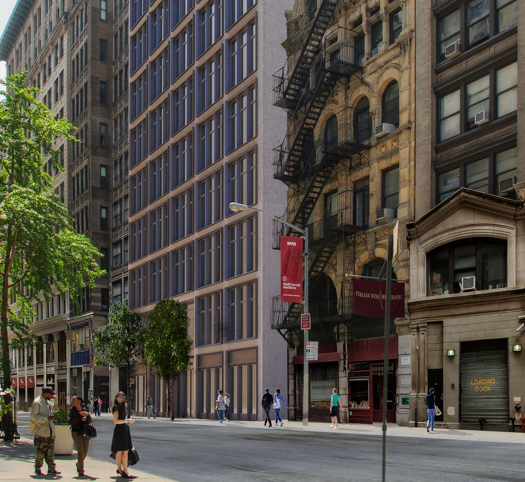 110 East 16th Street streetview, development by Tishman