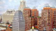 110 East 16th Street with skyline, development by Tishman