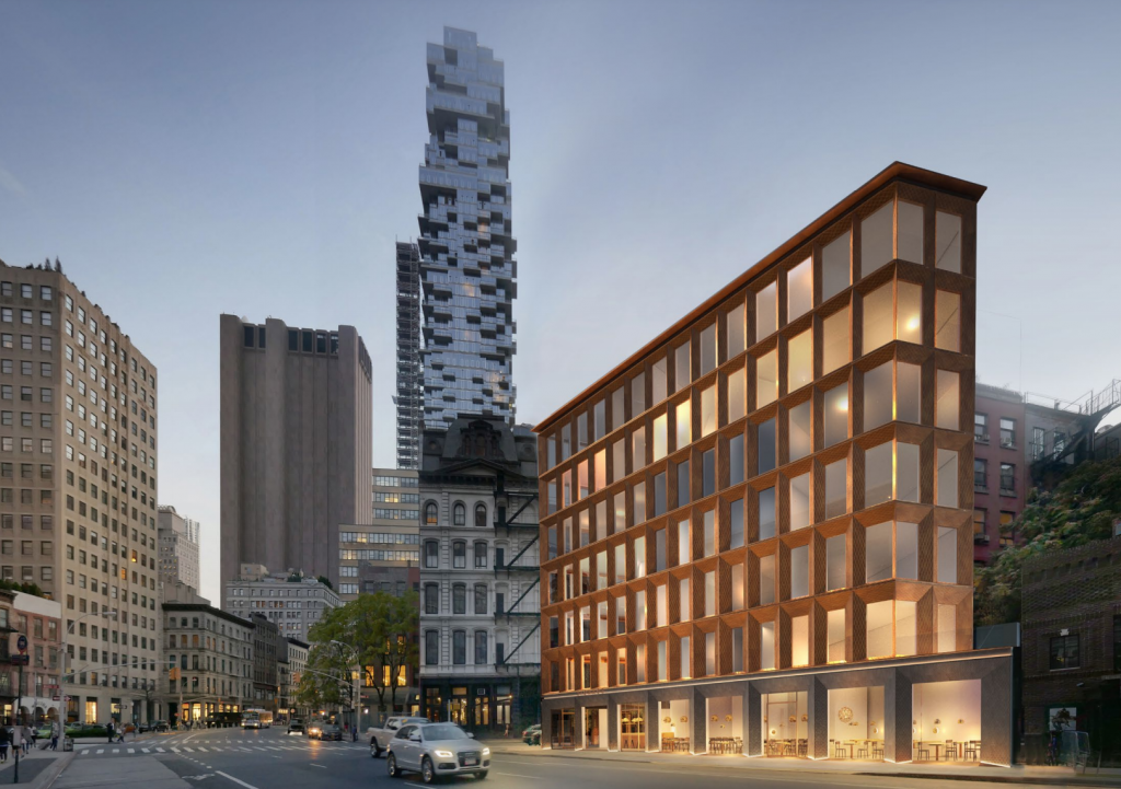 Updated renderings of 14 White Street - Street view from White Street