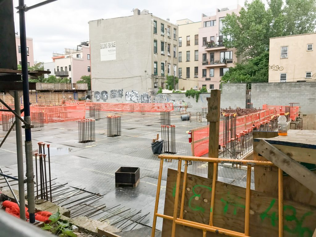199 Montrose Avenue construction site looking from Humboldt Street, image from YIMBY reader