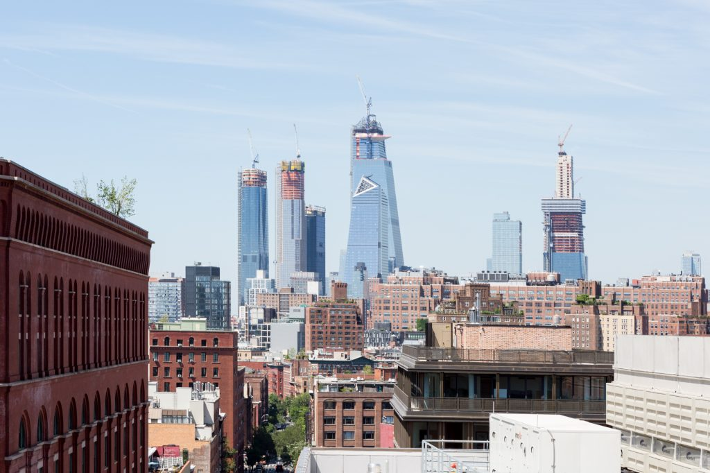 Hudson Yards from 90 Morton Street, image by Andrew Campbell Nelson