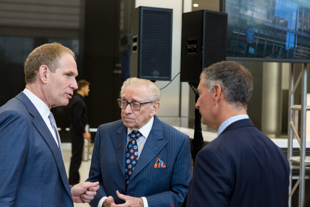Larry Silverstein in the lobby of 3 World Trade Center, image by Andrew Campbell Nelson