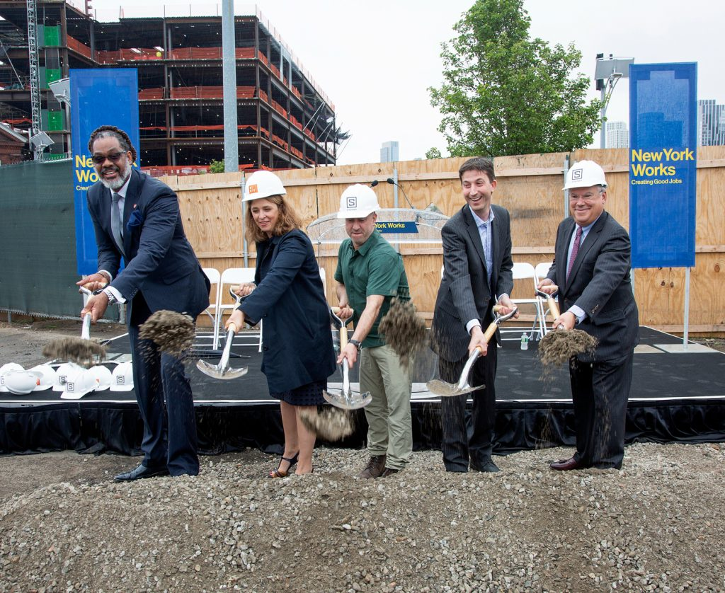 Official groundbreaking for 399 Sands Street