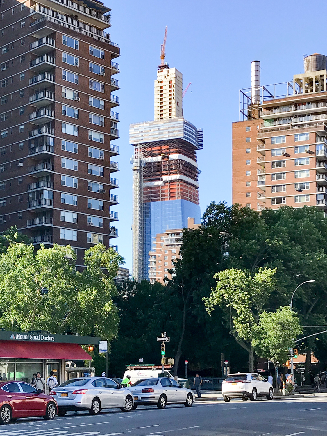 One Manhattan West's Concrete Core Tops Out in Midtown West