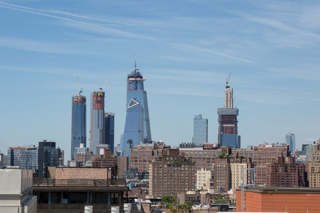 One Manhattan West next to Hudson Yards, image by Andrew Campbell Nelson from 90 Morton