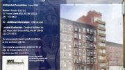 Site signage at 118 East 1st Street, image courtesy a YIMBY reader