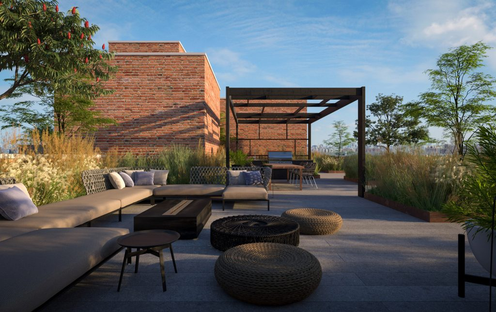 Rooftop terrace at 123 Hope Street