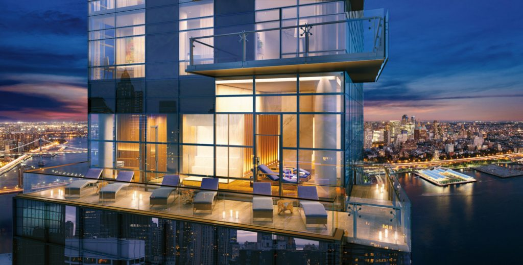 Sky terrace at One Seaport, image via the teaser website