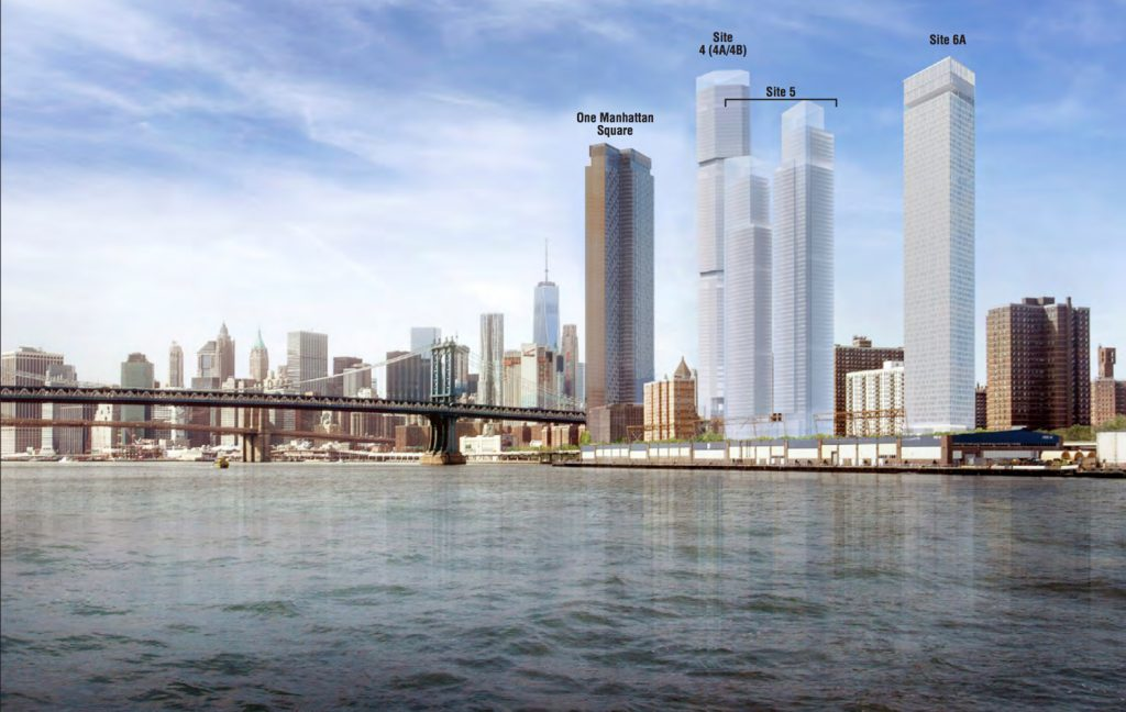 Two Bridges development master plan, image by SHoP Architects