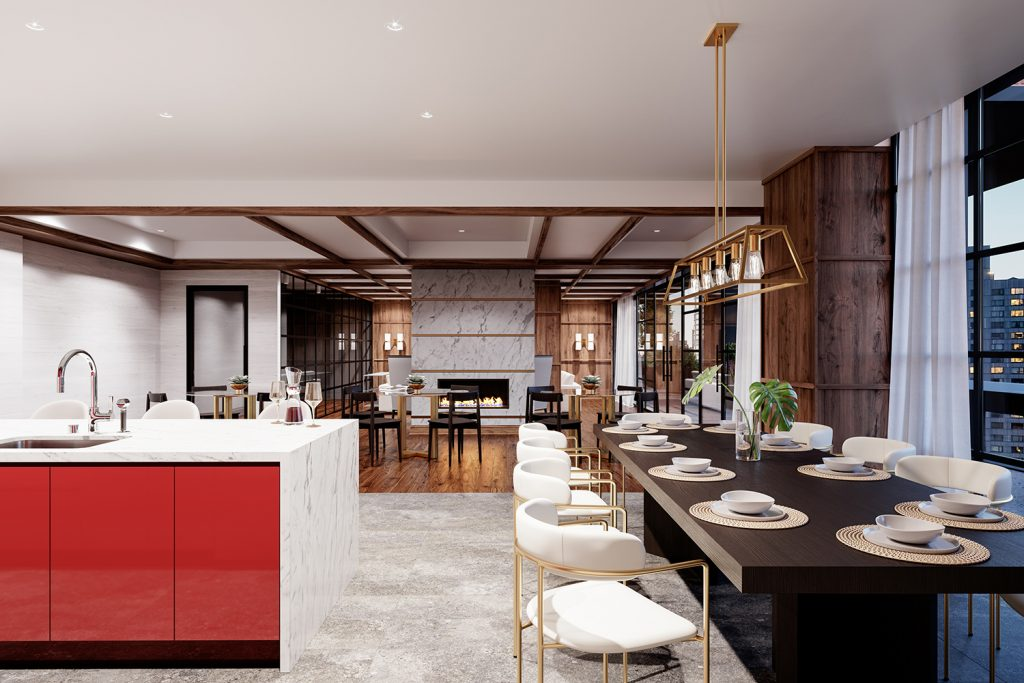 1 Flatbush Lounge, rendering by Citi Habitats