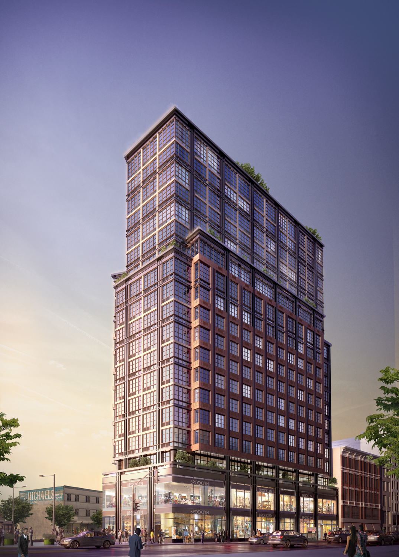 1 Flatbush, rendering by Citi Habitats New Developments