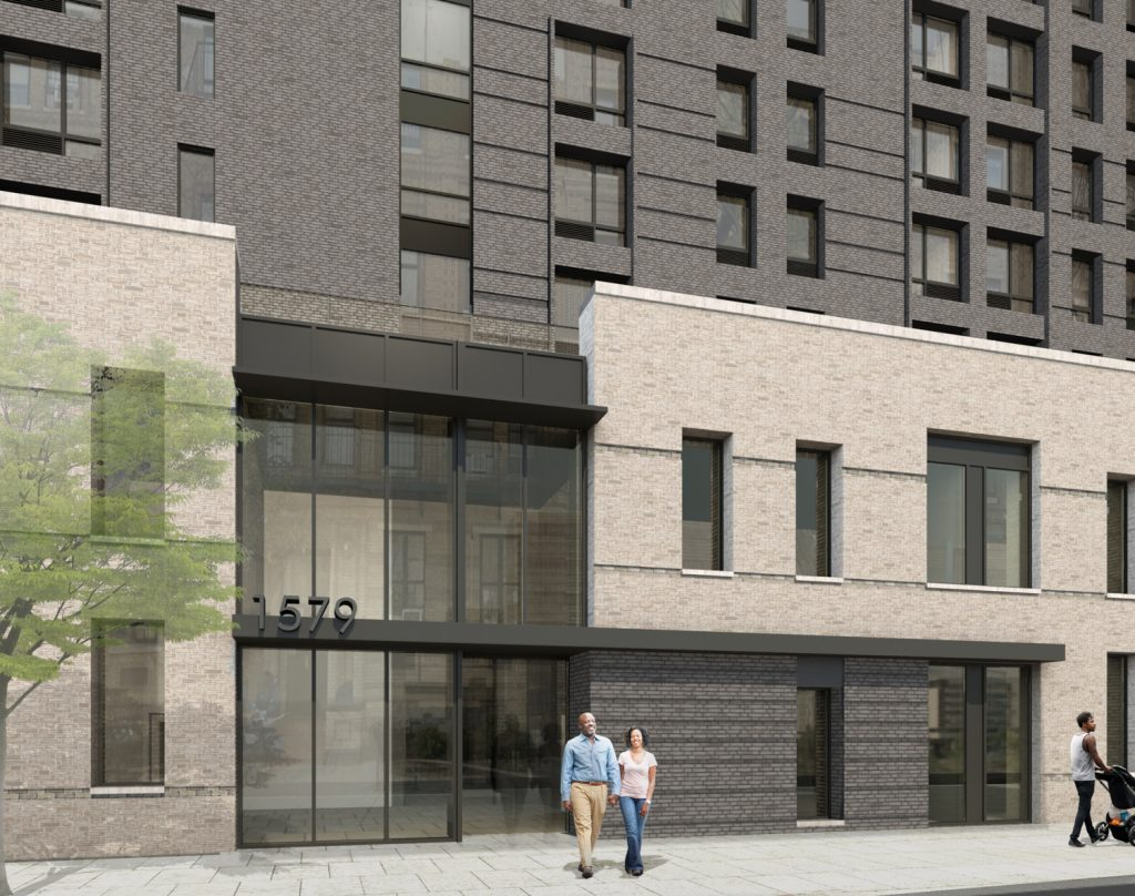 1057 President Street entrance, rendering by JM Zoning