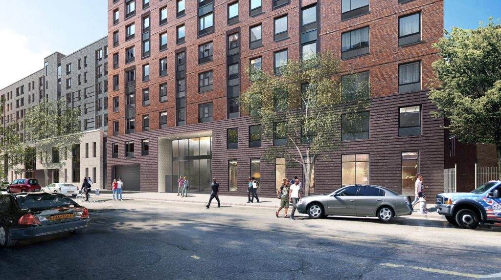 1579 Bedford Avenue entrance, rendering by JM Zoning