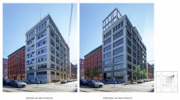 168 Plymouth Street, highlighting addition to 42 Jay Street, rendering by Alloy Design