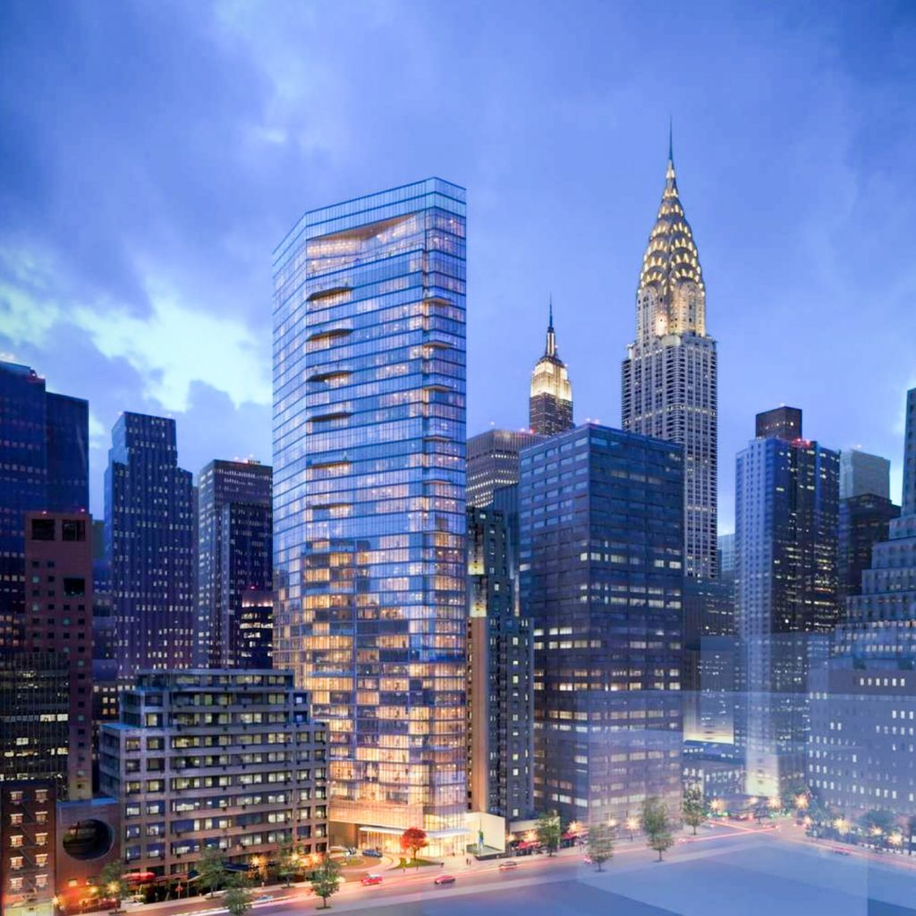 222 East 44th Street, rendering via Handel Architects