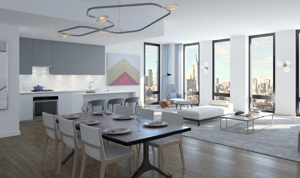 287 East Houston Street kitchen, rendering via the teaser website