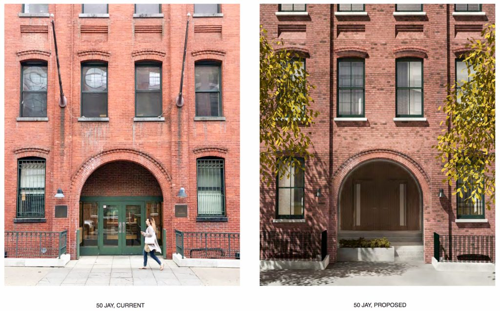 50 Jay Street entrance portal, images by Alloy Design