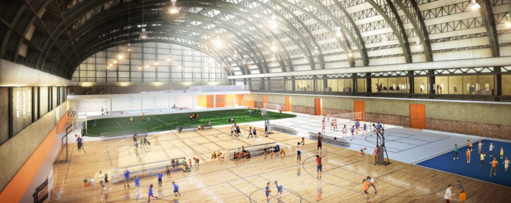 Bedford Union Armory Drillhall Redevelopment, rendering by JM Zoning