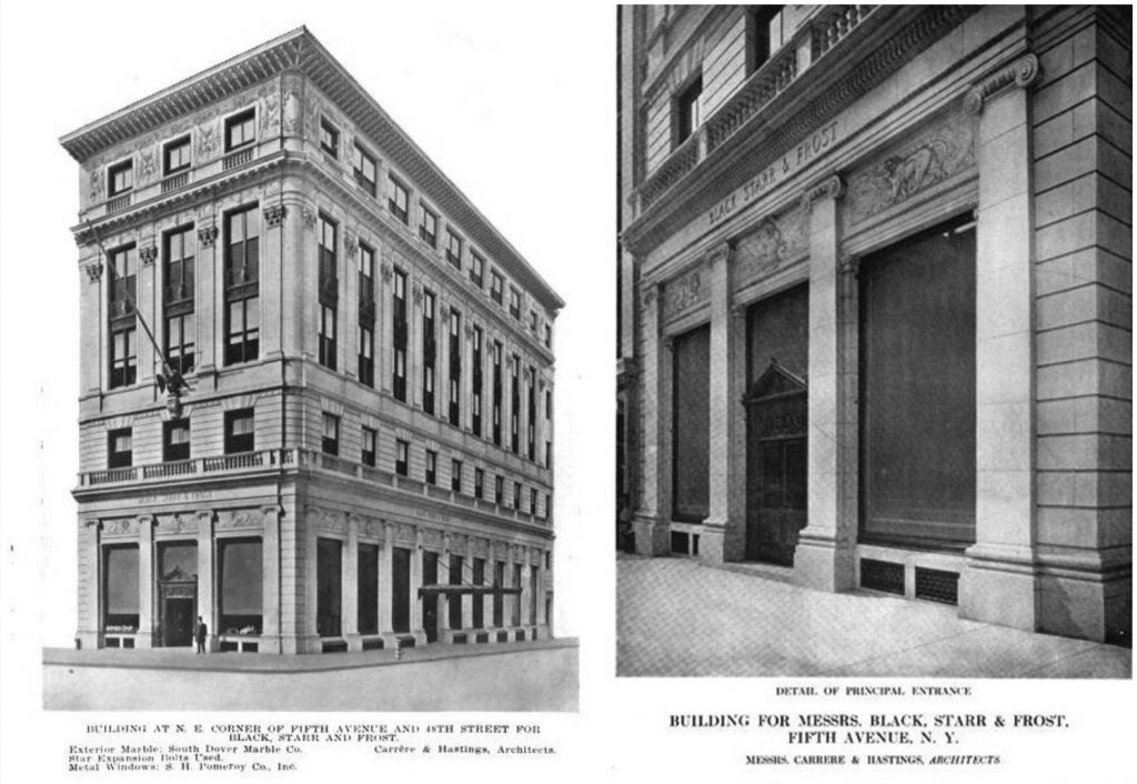 The Black, Starr & Frost Building. Image from The American Architect via Beyond the Gilded Age, courtesy City Realty