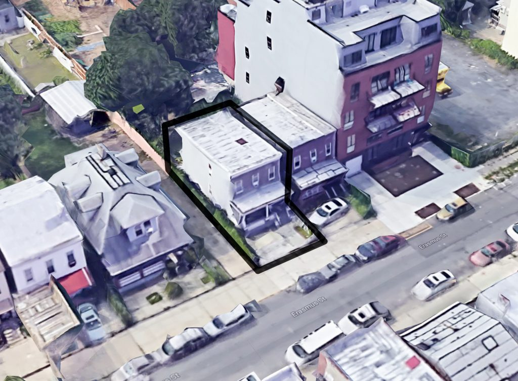 146 Erasmus Street, via Google satellite view