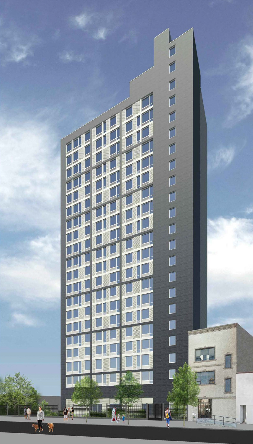 Renderings Revealed for High-Rise Affordable Housing at 153