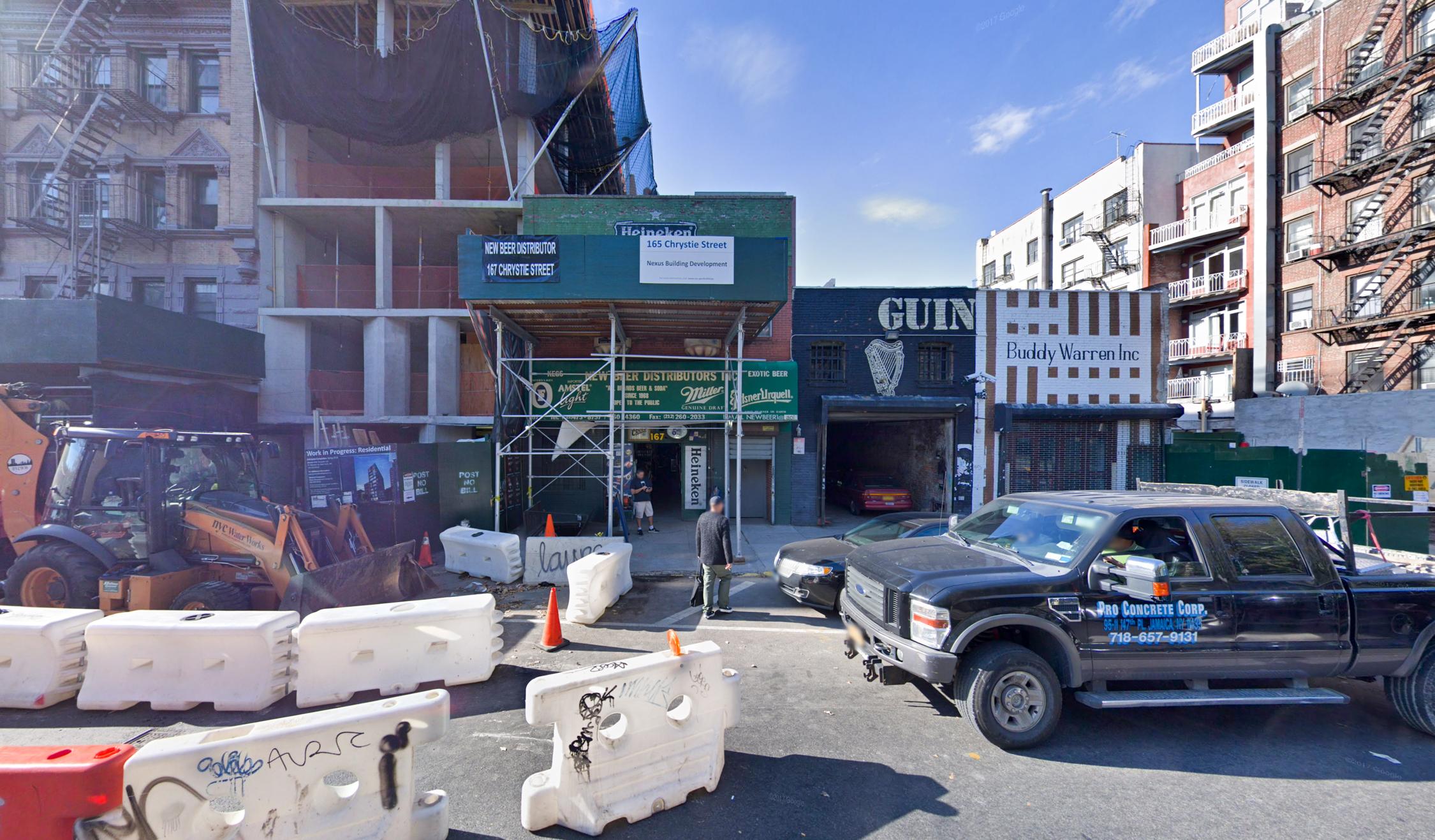 167 Chrystie Street, via Google Maps