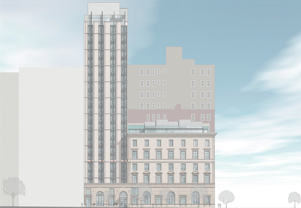 Work Begins On Conversion And 23 Story Hotel Addition At 250 Fifth Avenue In Nomad