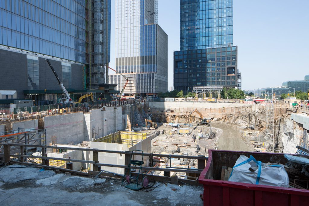 50 Hudson Yards foundation, image by Andrew Campbell Nelson